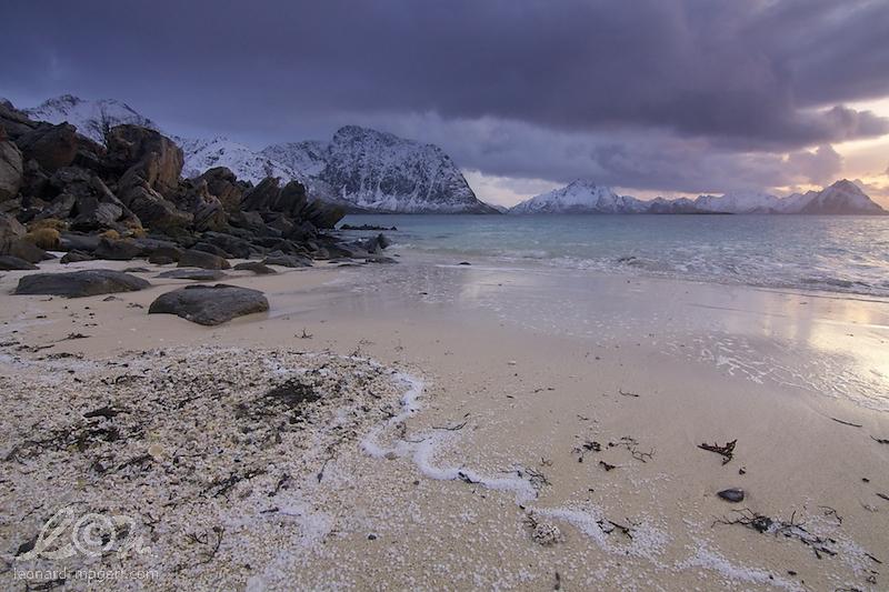 hail on sand